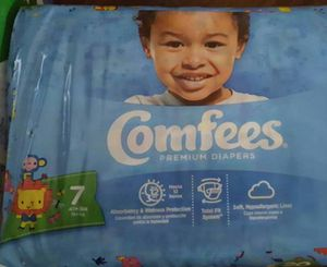 Comfees size 7 diapers pack of 20.. several available for Sale in Peoria, IL