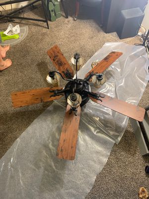 """52"""" Bronze Cabin Ceiling Fan Unique Rustic Fixture Branch Lamp Shade for Sale in South Salt Lake, UT"""