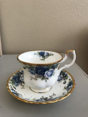 Royal Doulton midnight Rose tea cup tall and saucer for Sale in Tampa, FL