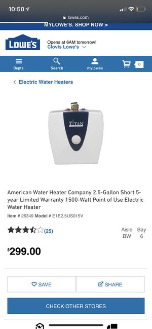 Electric water heater for Sale in Parlier, CA