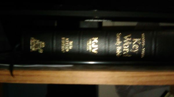 King James Version Key Word Hebrew+Greek Study Bible Red Letter Edition Jesus.
