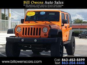 2012 Jeep Wrangler Unlimited for Sale in Avon Park, FL