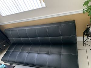 Leather couch futon for sale for Sale in Miami, FL
