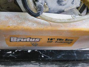 "Brutus 18"" tile saw for Sale in Orlando, FL"