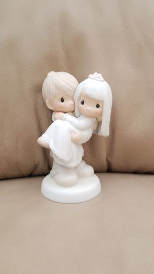 Precious moments collectible, figurine, glass, decor, antique, wedding, wedding cake topper, bride & groom for Sale in Tampa, FL