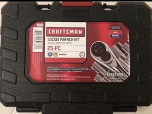 Brand new in box 25 piece Craftsman socket wrench set for Sale in Philadelphia, PA