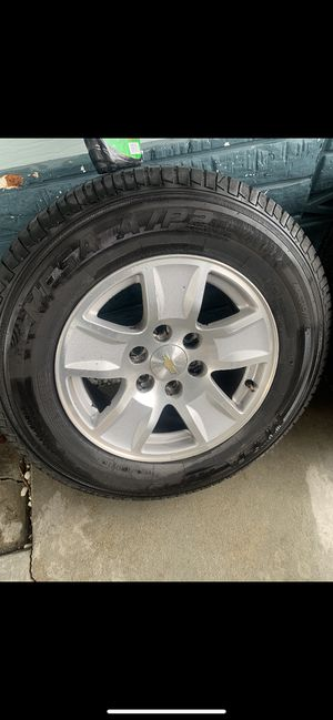 Chevy rims with new tires for Sale in Castroville, CA