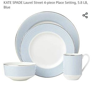 Kate spade blue dish set 4 pieces set for 1 for Sale in Milton, FL