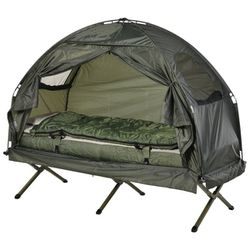 Portable Camping Cot Tent with Air Mattress, Sleeping Bag, and Pillow for Sale in Long Beach,  CA