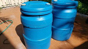 Plastic drums, 55 gal. $15 each for Sale in Miami, FL
