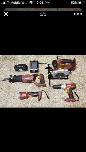 Tools saws flashlight battery and charger for Sale in Virginia Beach, VA