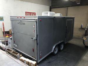 Enclosed Trailer Solar Powered Chest Freezer Race Car Hauler Trailer Carson for Sale in Long Beach, CA