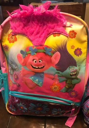Trolls backpack and matching lunch bag for Sale in Buda, TX