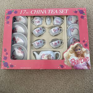 17 Piece Barbie China Tea Set for Sale in Flowery Branch, GA