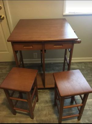 Folding table with 2 stools for Sale in Cleveland, OH