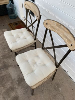 2 farmhouse style dinning chairs for Sale in Phoenix, AZ