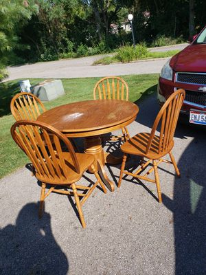 Oak Dining table and wood chairs for Sale in Lancaster, OH