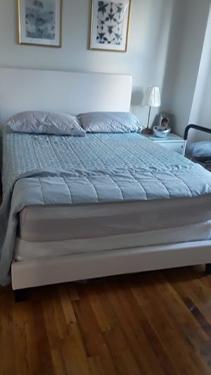 Brand new full size bed frame with box and mattress for Sale in New York, NY
