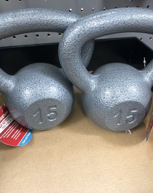 Brand New 15lb & 10lb Kettle Bell Workout ! for Sale in Kissimmee, FL
