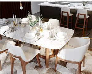 ROVECONCEPTS White carrara marble top dining table Brand new in the wooden crate from the factory for Sale in Boca Raton, FL