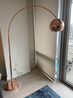 Rose gold arch floor lamp for Sale in Washington, DC