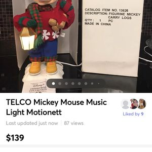 Telco Disney World Mickey Mouse Motionette for Sale in Glen Ellyn, IL