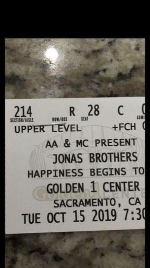 Jonas brothers golden 1 concert for Sale in Carmichael, CA