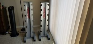 Life fitness dumbbell stands for Sale in Phoenix, AZ