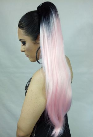 Synthetic Hair Extension Drawstring Ponytail -Pastel Pink- brand new / $30 PICK UP PRICE/ nueva color Rosa for Sale in Fullerton, CA