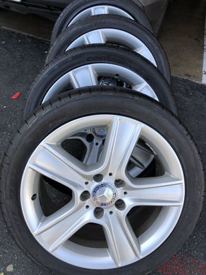 Rims tires 17 staggered for Mercedes Benz 5x112 for Sale in Santa Ana, CA