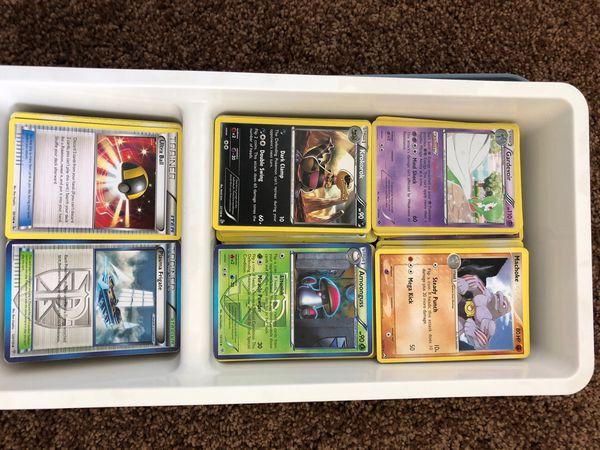 Box of 100s of Pokémon cards