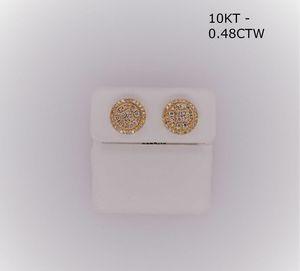 10kt Gold 0.48Ct Diamond Ear Ring for Sale in Tucker, GA