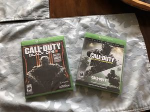 NEW Xbox One Call Of Duty Black Ops III & NEW Xbox Call Of Duty Infinite Warfare for Sale in Chula Vista, CA