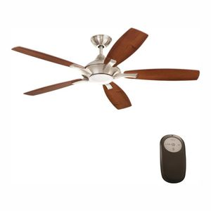 "Petersford 52"" Integrated LED Indoor Brushed Nickel Ceiling Fan with Light Kit + Remote Control NEW for Sale in Plantation, FL"
