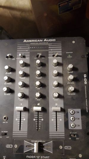 American Audio QD6 3 Channel Pro DJ Mixer for Sale in Fresno, CA