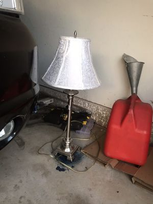 Beautiful silver metal lamp for Sale in Oklahoma City, OK