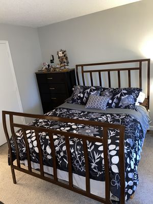 Queen Bed Frame with Headboard and Footboard for Sale in Sandy Springs, GA