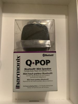 Qmadix Q-POP Bluetooth Mini Speaker - Black for Sale in Savannah, GA