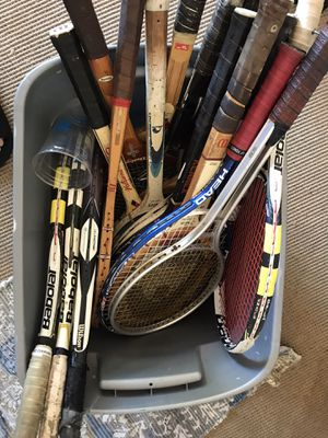 Bunch of tennis rackets for Sale in Boca Raton, FL