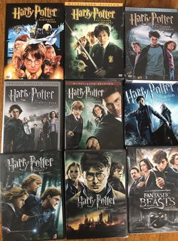 Harry Potter and Fantastic Beasts 9-Film Collection all for $35 Disney marvel Harry Potter DC movies Bluray and dvd 3D collectibles for Sale in Everett,  WA