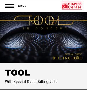TOOL 1 ticket Monday Below Face for Sale in Long Beach, CA