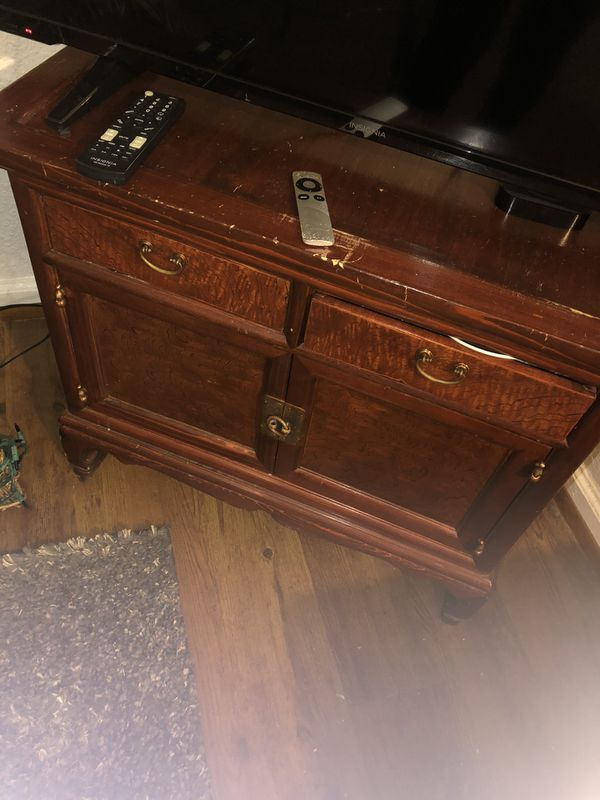 Furniture-Two Wood Side Tables Pending Pick Up