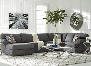 ❤️Only $50 Down Payment with Financing Approval! All Brand New Never Used Still in 3 Boxes Ashley Jayceon 3-Piece RAF Sofa Sectional in Steel Fabric. for Sale in Norfolk, VA