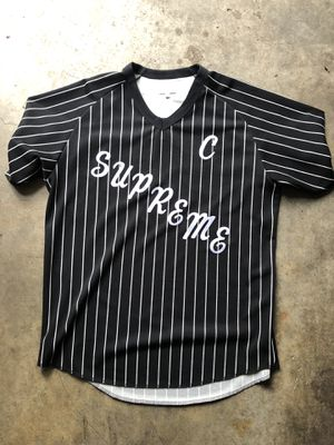 Supreme Pinstripe Baseball Jersey for Sale in Portland, OR