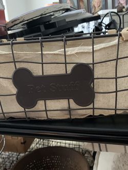 Cloth-lined Wire Baskets To Keep Dog Accessories In. 2 Diff Sizes for Sale in Long Beach,  CA
