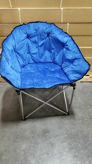 Brand new XL foldable chair camping chair outdoor sports chair blue or black color with Carrying Bag outdoor sports chair for Sale in Whittier, CA
