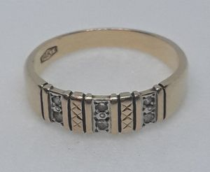 Real Solid 14K Solid Gold & Real Diamonds Mens Ring Size 10 for Sale in Hollywood, FL
