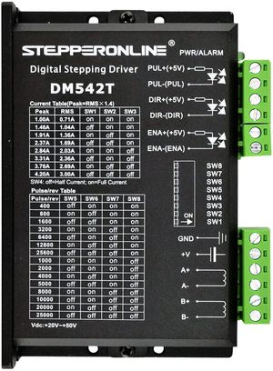 STEPPERONLINE DM542T CNC STEPPER MOTOR DRIVER 1.0-4.2A 20-50VDC 1/128 MICRO-STEP RESOLUTIONS FOR NEMA 17 AND 23 STEPPER MOTOR for Sale in Las Vegas, NV