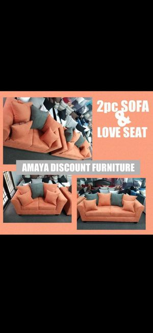 Orange couches for Sale in Houston, TX
