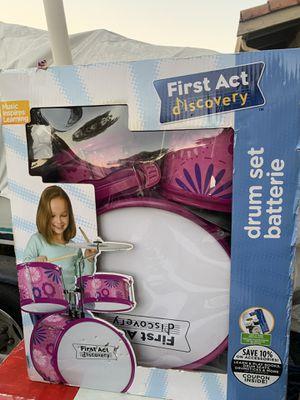 Kids drum set: pink design for Sale in San Jose, CA